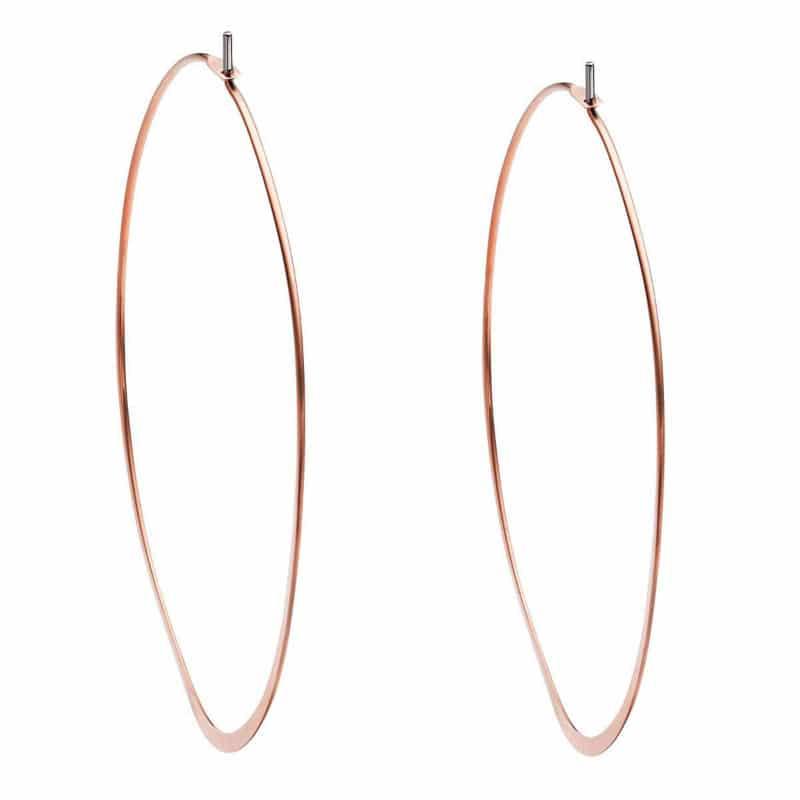21aafccde7717 Michael Kors Rose Gold-Tone Hoop Earrings - Sunlab Malta