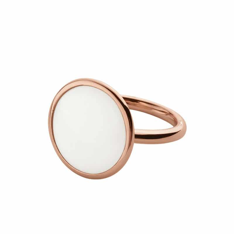 Skagen Sea Glass Rose Gold Ring for Ladies Size 18 - Sunlab Malta
