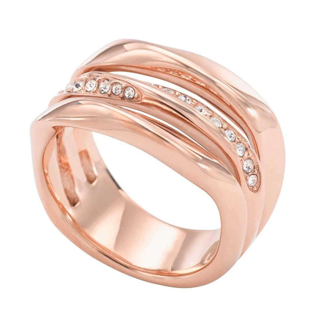 Fossil Classic Rose Gold Ring for Ladies - Sunlab Malta