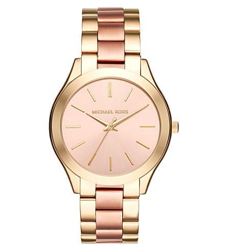 1a36a1514c49 Michael Kors Slim Runway Pink Dial Ladies Watch