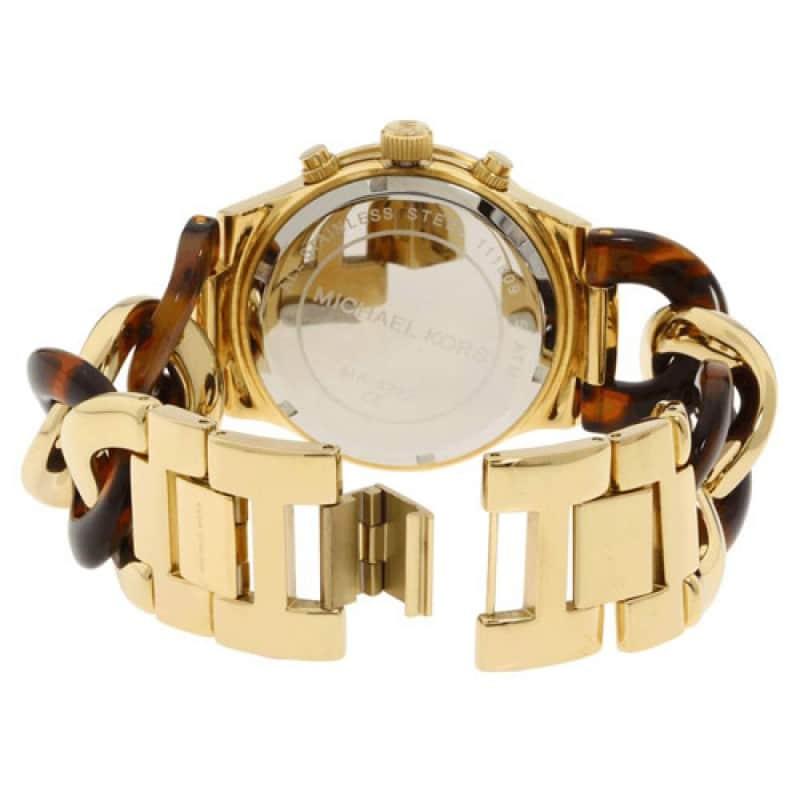 f9abeb0c5353 Michael Kors Chain Link Acrylic Gold-tone Ladies Watch MK4222 ...