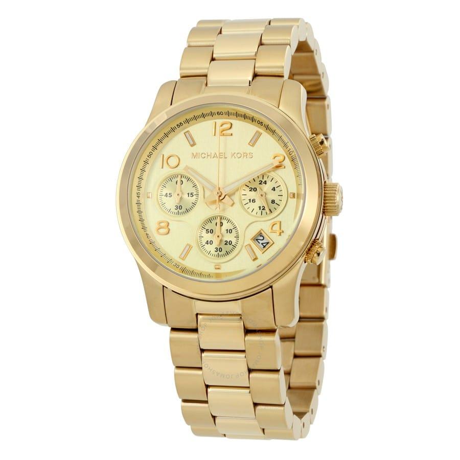 16573057c059 Michael Kors Midsized Chronograph Gold-tone Unisex Watch MK5055 ...