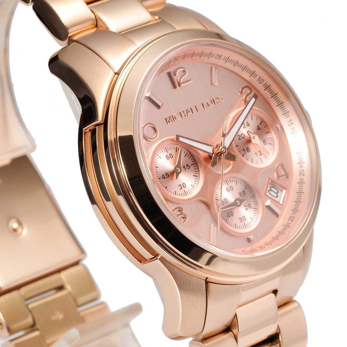 37fac12b2c53 Michael Kors Runway Chronograph Gold Dial Ladies Watch MK5128 ...
