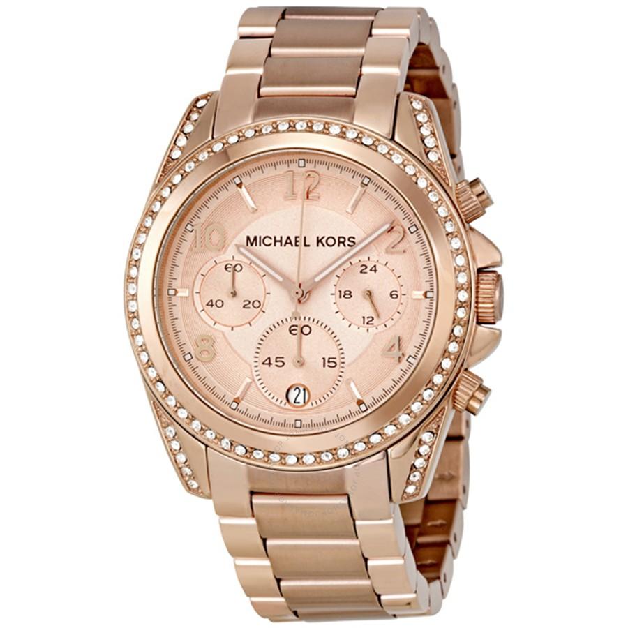 615eb764991 Michael Kors Blair Chronograph Rose Dial Ladies Watch MK5263 ...