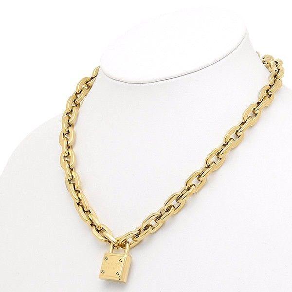 8827d9706b4a Michael Kors Gold-Tone Logo Padlock Pendant Necklace MKJ3325710 ...