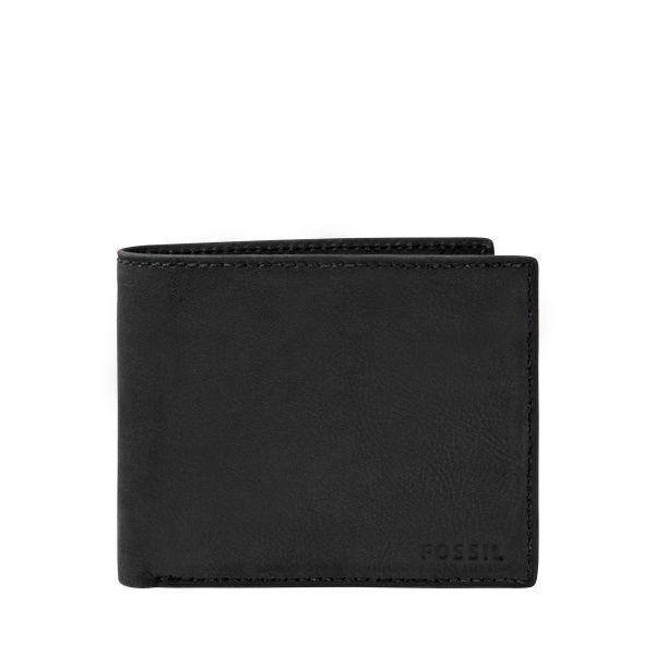 0dcc2195 Fossil Men's Nova Black Bifold Wallet, ML3565001