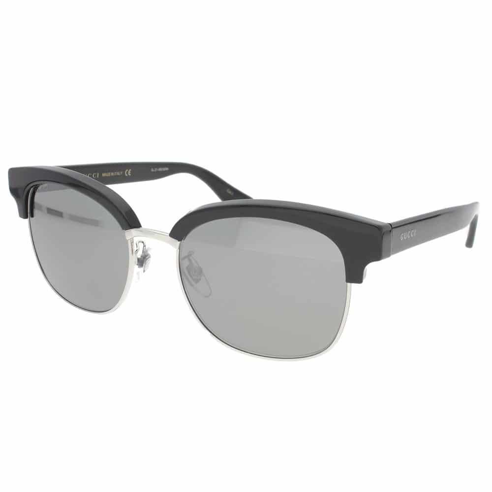 d10bc59683 Gucci Sunglasses Semi-Rimless Black Silver Unisex 0056S00154 ...